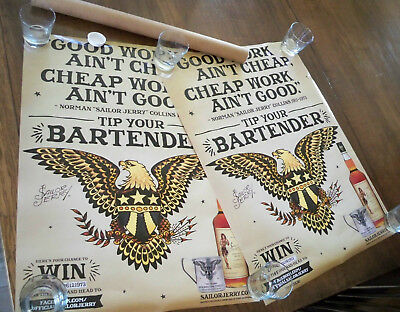 2 Sailor Jerry Spiced Rum Eagle Posters My Work Speaks For Itself Norman Collins
