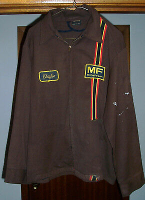 Vtg Massey Ferguson Tractor Repairman Uniform Jacket Sz 46R Work Wear, Unitog