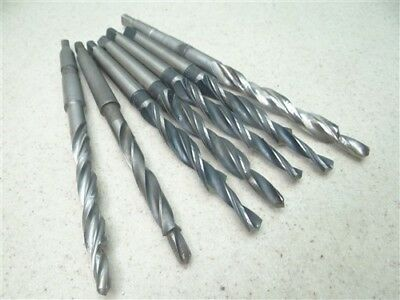 """Lot Of 7 Hss 1Mt Taper Shank Step Drills 5/16"""" To 15/32"""" Dia. Etna Co."""