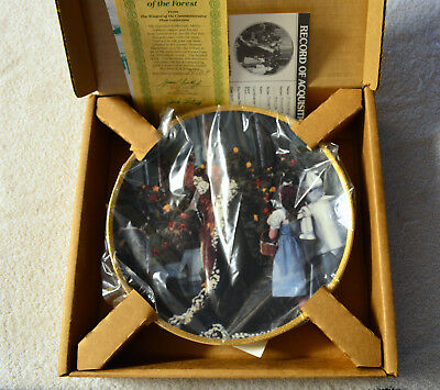 """King Of Forest Wizard Of Oz  Hamilton Collector 8-1/2"""" Plate Coa Gold Rimmed"""