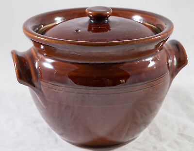 Brown Moira Pottery Stoneware Small Casserole With Lid
