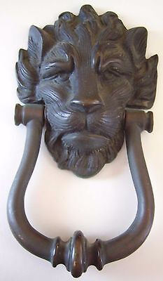 Vintage Lion Head Door Knocker - Large - Brass