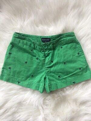 Ralph Lauren Girls Cotton Shorts Size 10 Green