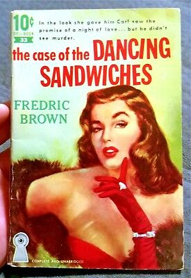 Fredric Brown The Case of the Dancing Sandwiches Dell 10 Cent Vintage Paperback