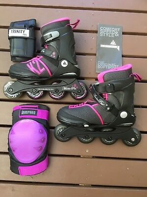 K2  Marley Youth Girls Rollerblades  with light up wheel - Like New