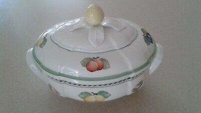 Large 84Oz. Oval Soup Tureen Villeroy & Boch French Garden Fleurence Country