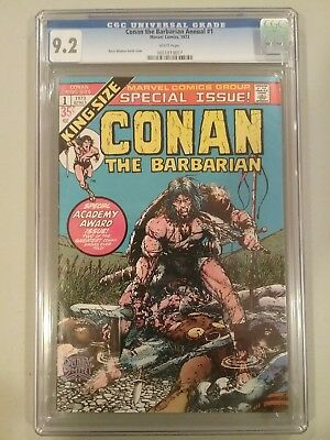 Conan The Barbarian #1. Cgc9.2.   1973. White Pages