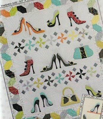 Never Enough Shoes - fun pieced & applique quilt PATTERN - Whimsicals
