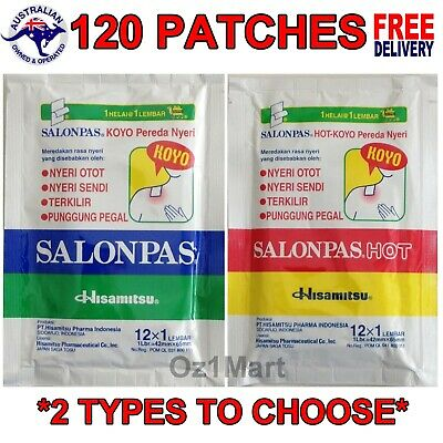 Salonpas Hisamitsu 120 Patches Muscle Pain Relieving Patch