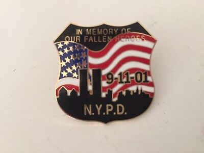 PIN'S N.Y.P.D. 9-11-01 - 11 septembre 2001 - New York Police Department