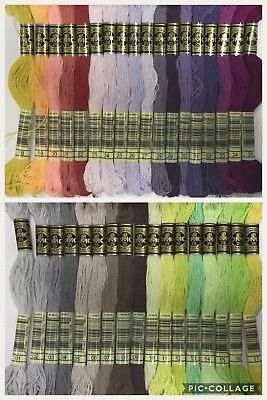 NEW RANGE DMC thread stranded cotton floss 35 colours - Number 1 to 35