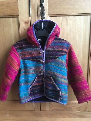 100% Wool Multi Colour Cardigan Age 3 +
