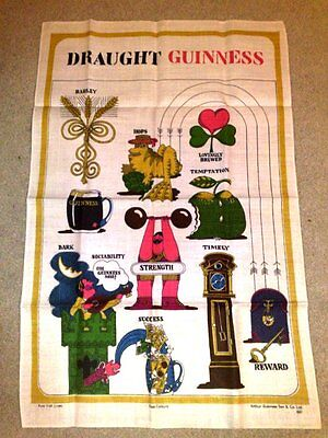 Guinness  Vintage Linen Tea Towel