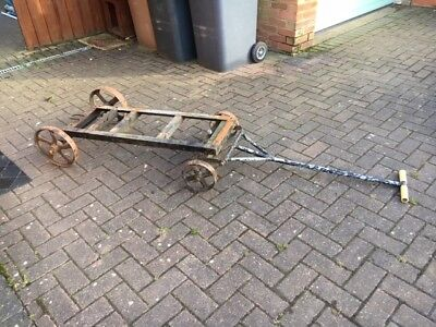 Heavy Duty Metal Stationary Engine Trolley With Cast Iron Wheels Ruston Lister