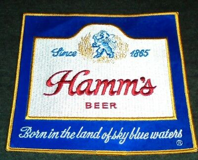 Vintage Original 1960's LARGE Hamm's Beer Route Drivers Shirt Patch