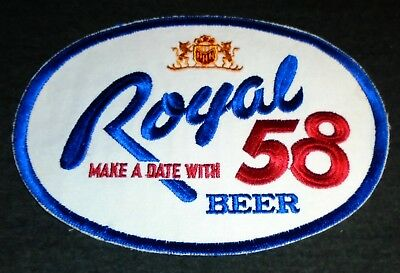 Vintage Original HUGE 1950's Royal 58 Beer, Duluth MN Route Drivers Shirt Patch