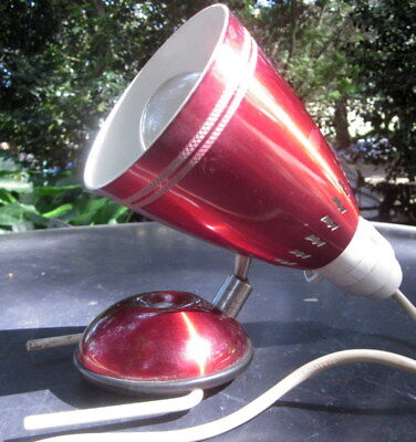original 1960's anodised aluminium bedroom reading light - clamps to bed head