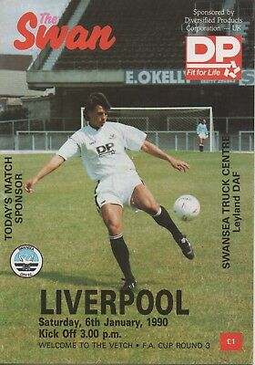 SWANSEA CITY v LIVERPOOL 06.01.80 F.A.CUP