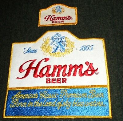 Lot of 2 Vintage Original 1960's Hamm's Beer Route Drivers Shirt Patches