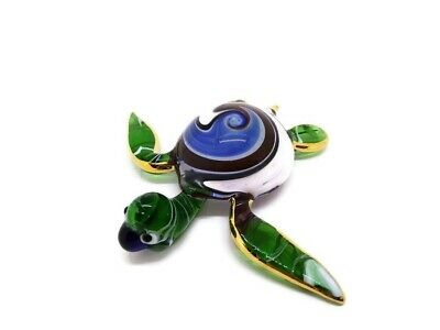 Blown Glass Turtle Sea Hand Blowing gift Figurine Reptile Art Collectibles Decor