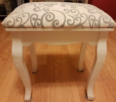 French Provincial Floral Dressing Stool