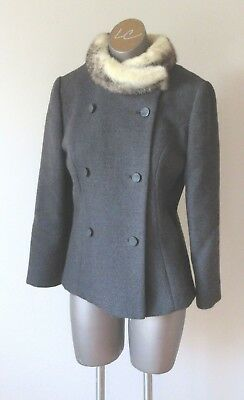 Vintage 50's/60's Wool Jacket with Mink Collar