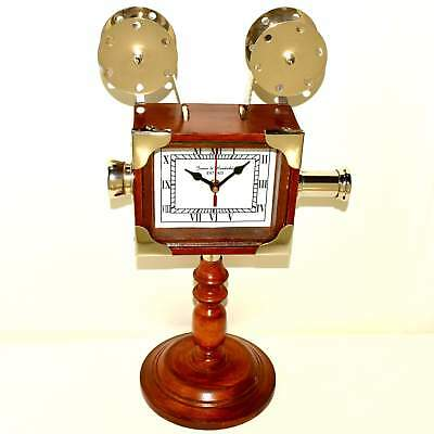 Wooden Old time Camera Clock vintage collection decorative Handmade Retro A277