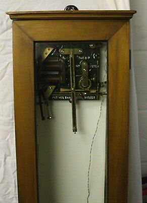 Rare Early Gents (Parsons & Ball Patent) Master Clock 1913