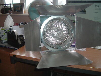 240 volt Aluminium Indoor Domestic or Stage/Theatre Light with Bracket and Flaps