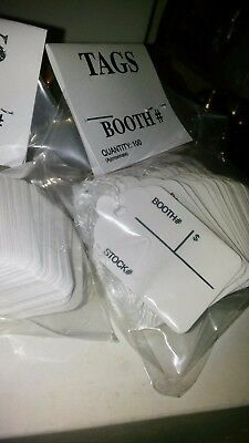 1000 String Tag White with Booth Label Price Tag