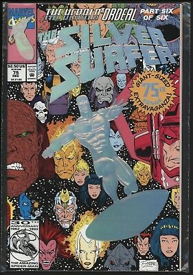 Silver Surfer #50 - Lovely Original Owner Nm 9.4 Copy With White Pages
