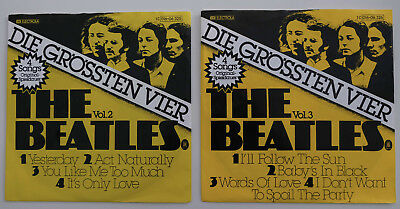 "2X  7"" EP Single BEATLES - VOL.2  und VOL.3 - seltene 4-Song-EP - VG / sehr gut"