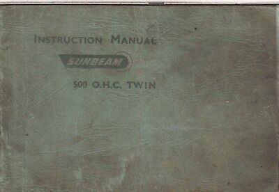 SUNBEAM 500cc OHC S7 & S8 ( 1949 - 1957 ) ORIGINAL OWNERS INSTRUCTION MANUAL