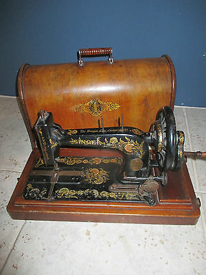 Rare 1903 model Singer 48k Ottoman Hand Crank sewing machine + Accessories
