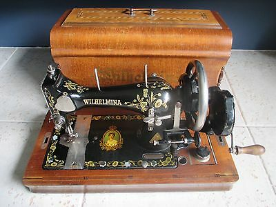 Beautiful Antique Durkopp Dutch Queen Wilhelmina sewing machine early 1900's