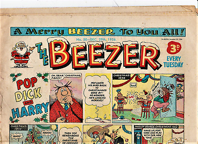 The BEEZER #50 December 29th 1956 First Christmas Comic 1st Xmas issue
