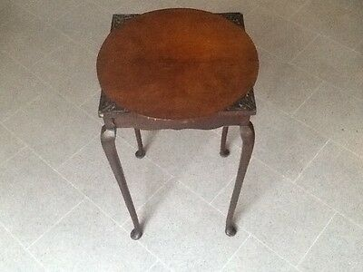 Antique EDWARDIAN Mahogany Wine Occasional Table Lamp Stand.  Dorset