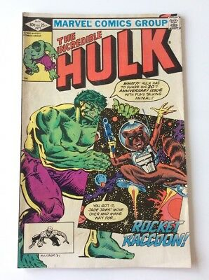 INCREDIBLE HULK #271 - MAY 1982 - 1st APPEARANCE ROCKET RACCOON - FINE CONDITION