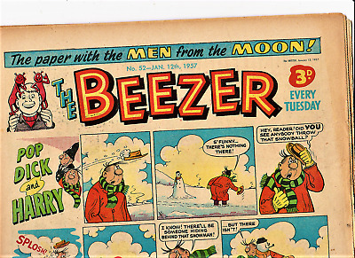 The BEEZER #52 January 12th 1957 Comic issue