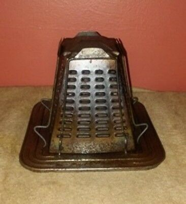 Primitive Antique Tin Stove Top Toaster~Rustic Cabin Country Kitchen early 1900s