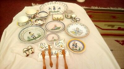 Selection of Quimper Pottery containing some very interesting pieces