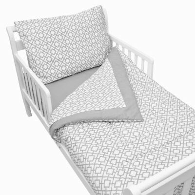 American Baby Company 100% Cotton Percale 4-piece Toddler Bedding Set Gray Other