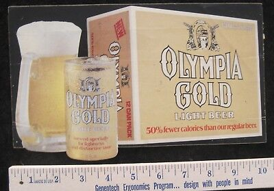 Two vintage Olympia Beer stickers.
