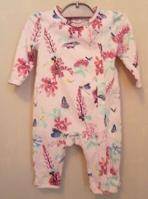 0dd4e6a47b9 Baby girls Ted Baker floral butterfly print sleepsuit babygrow age 3 - 6  months
