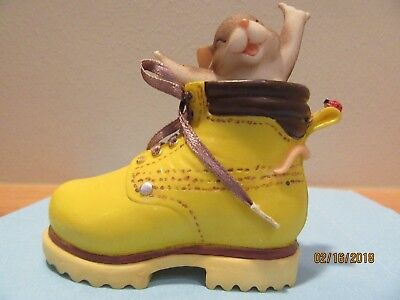 "Charming Tails, Yellow Timberland Boot, #89/331, ""You're a hard working sole."""