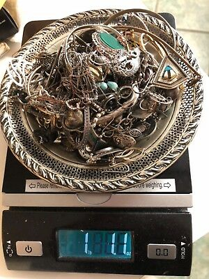 Sterling Silver Lot Of Scrap Jewelry 484 grams