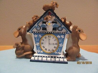 "Charming Tails, Ffamily and clock, #89/238, ""There's always time for family."""