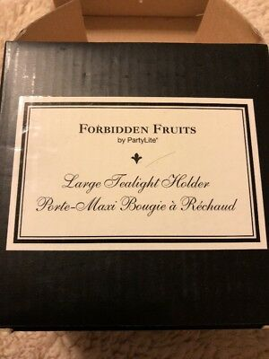 PartyLite - Forbidden Fruits -Large Tealight Holder With Candles - NIB