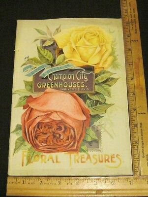 Rare Original 1892 Good & Reese Co Seed Plant Catalog Complete w Order Form VG