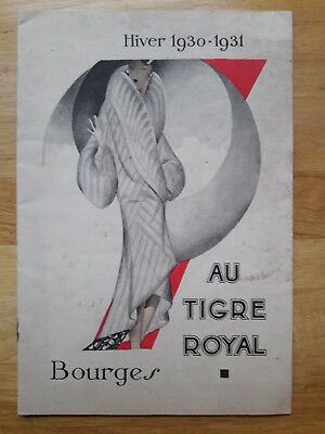 Bourges Magasin Au Tigre Royal 1930 catalogue fourrure mode Lemaire fourreur